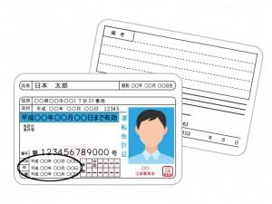 運転免許の正式名称と取得日