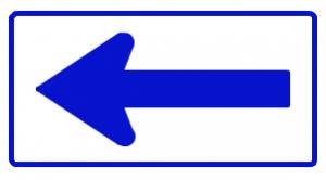 道路標識左折可