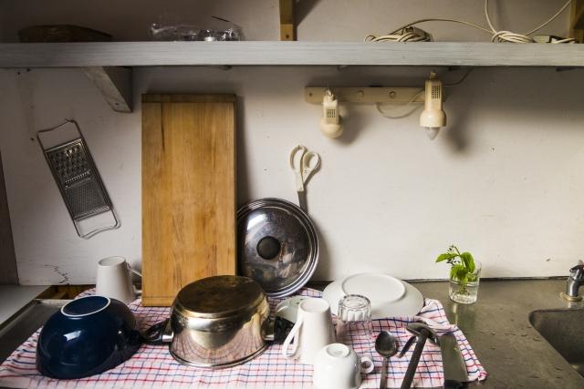 食器を洗った